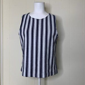 Theory Size  Vertical Striped Tank Top Shirt L